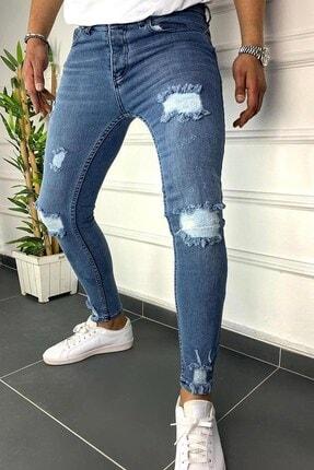 Terapi Men Erkek Slim Fit Jean Kot Pantolon 20y-2100437-01 Mavi