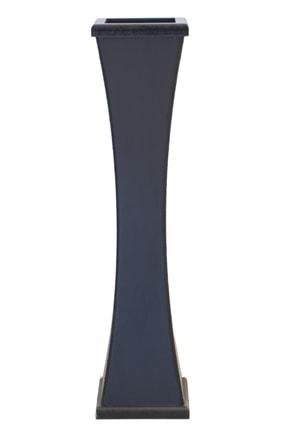 Yapay Çiçek Deposu Siyah İnce Belli Ahşap Vazo 60 cm