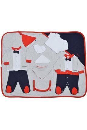 Pierre Cardin Baby Unisex Bebek Gri-lacivert Papyonlu Giyim 10'lu Hastane Çıkış Seti