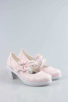 Aymeravm Kız Çocuk Pembe Topuklu Sarmaşık Ayakkabı