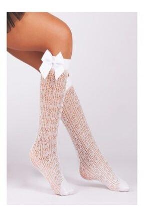 day mode Kız Çocuk Diz Altı Aksesuarlı Çorap Orietta