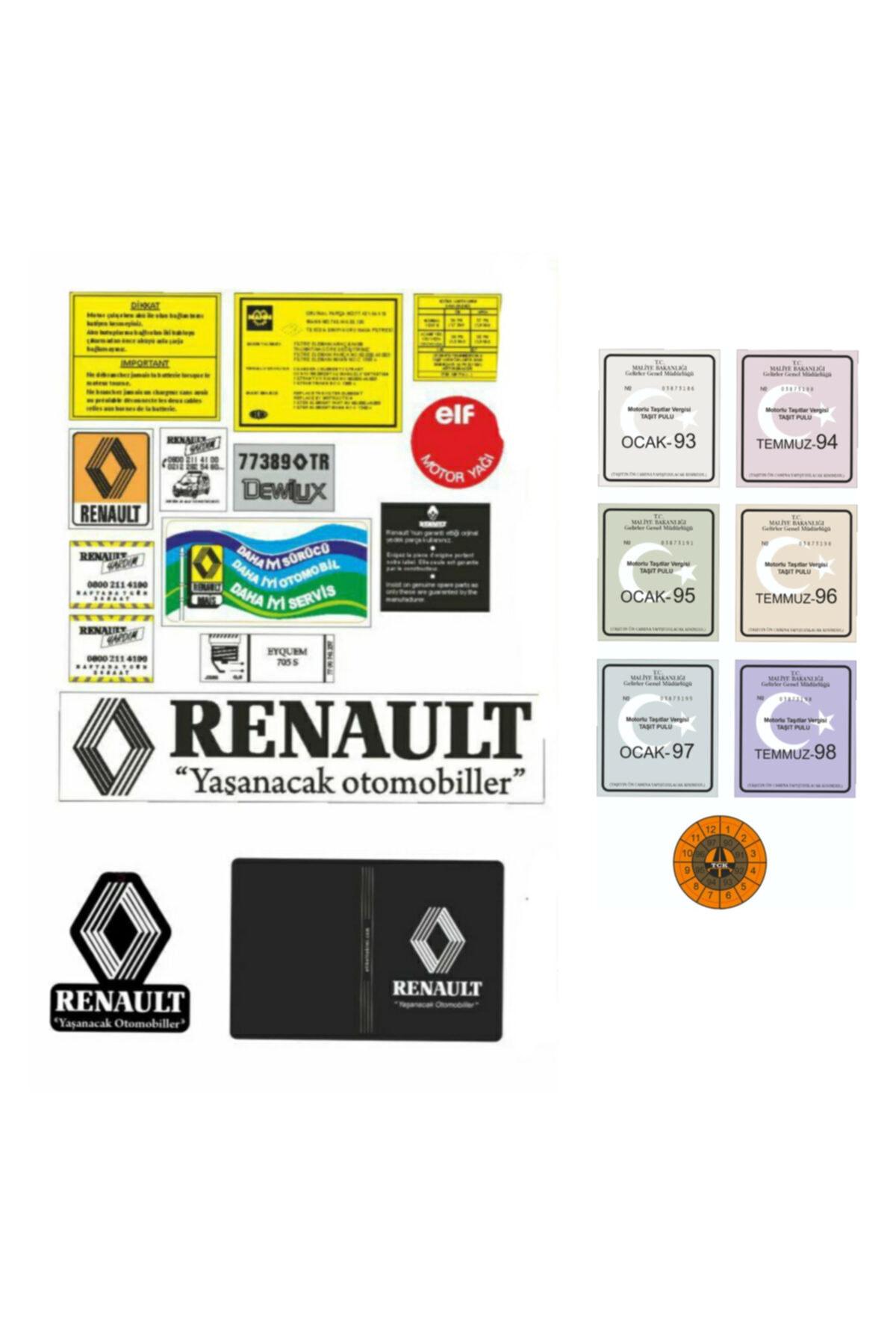 etikettakimi Renault Etiket Takımı Ve Pul Seti 1