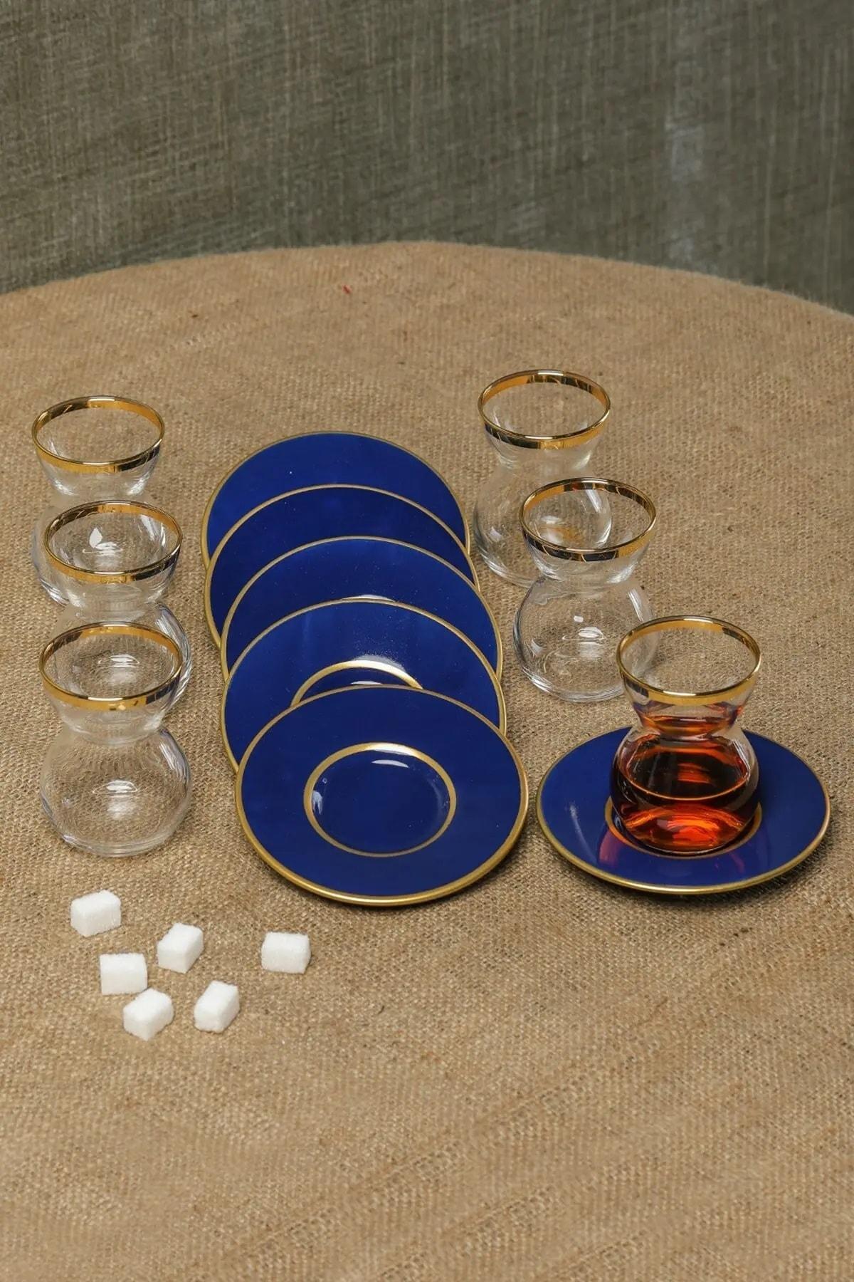 Cooker Dekorlu 12 Parça Çay Bardağı Takımı Seti Cay-takimi Ckr2691 1