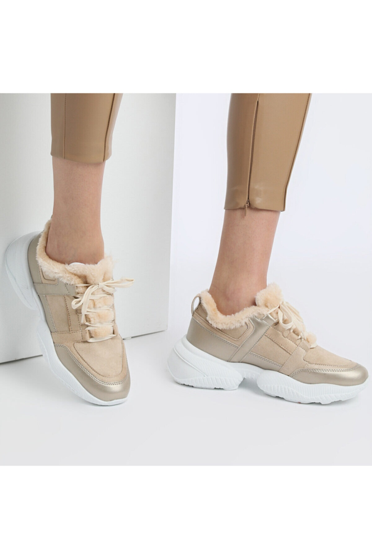 Butigo 20K-607 Bej Kadın Fashion Sneaker 100579200 2