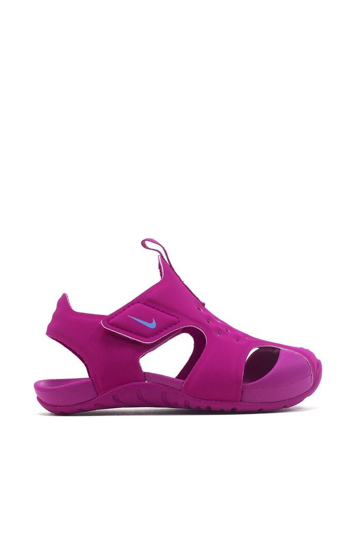 Nike Kids Kız Bebek Gri Pembe Sunray Protect 2 (Td) Sandalet 1