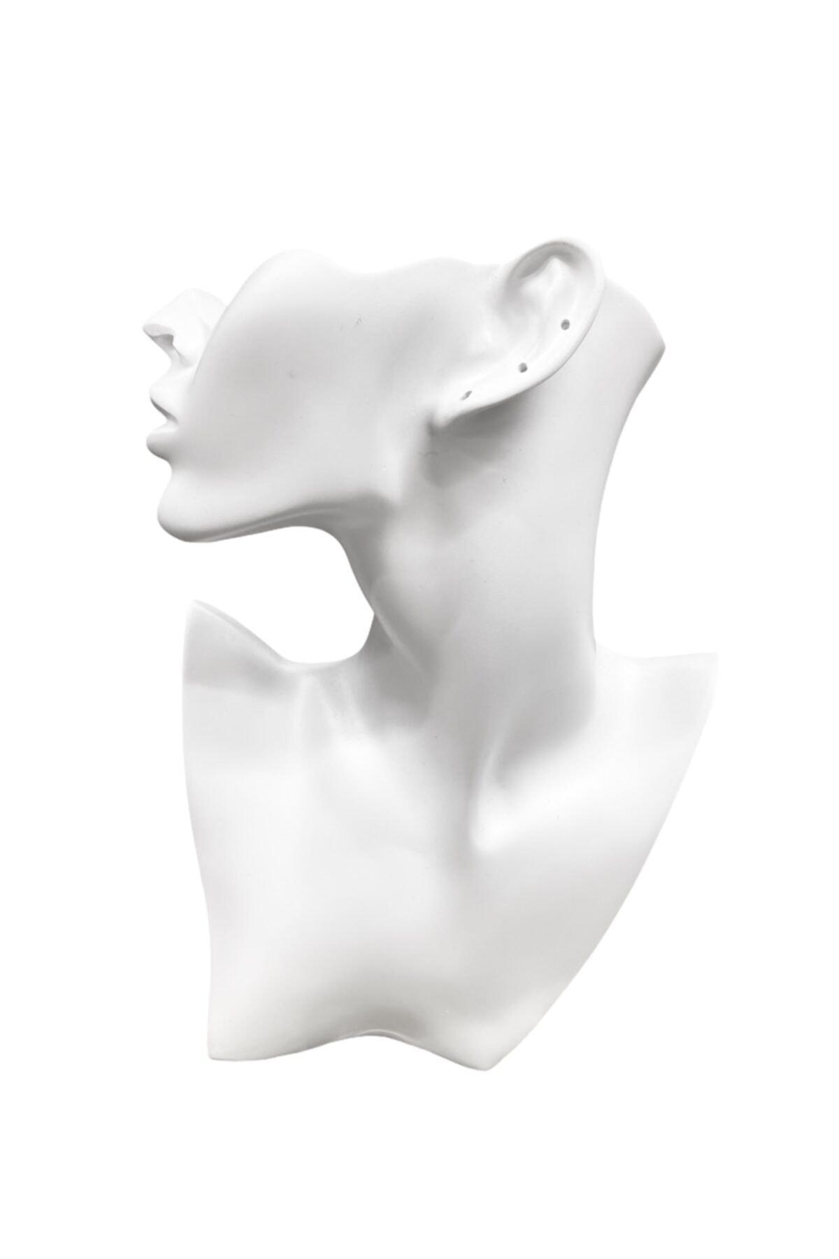 Hedef Bijuteri Polyester Küpe,kolye Takı Sergileme Vitrin Mankeni- Polyester Manken 1