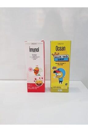 Orzax Imunol Şurup 150 ml + Ocean Limon Aromalı Balık Yağı Şurup 150 ml Sınav Seti