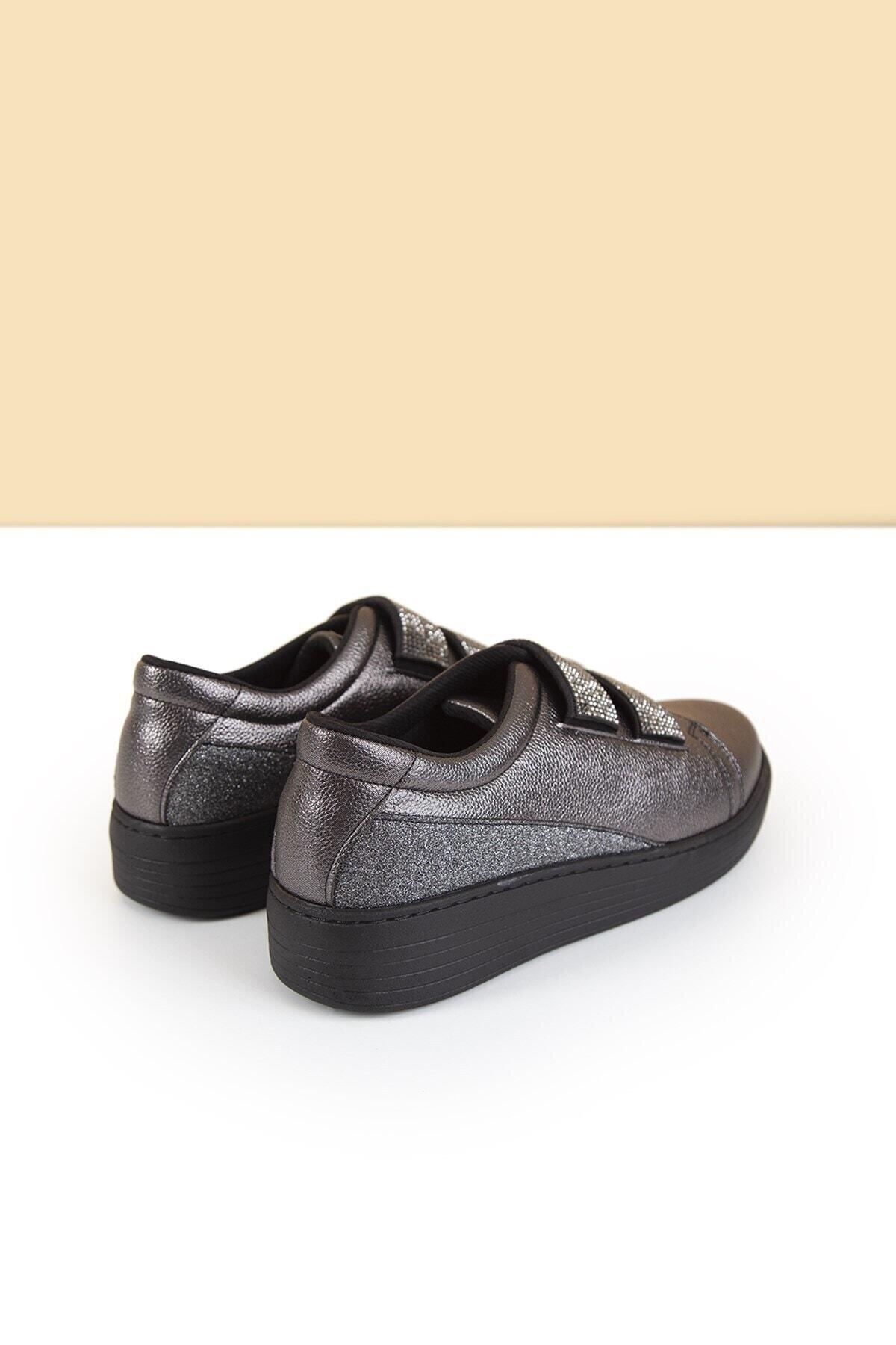 Pierre Cardin Kadın Günlük Streç Ayakkabı Platin Gri 2