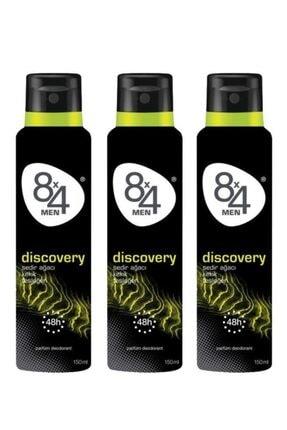 8x4 Discovery Deo Sprey Erkek 150 ml X 3 Adet