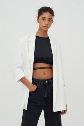 Pull & Bear Kadın Beyaz Ceket