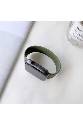 zore Apple Watch Kordon 38mm 14.4 Cm Solo Loop Medium Sportif Kayış(yeşil-green)