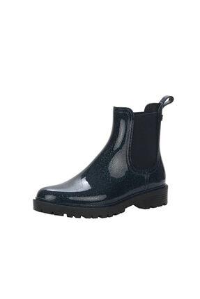 IGOR Kadın Lacivert Simli Trak Glitter Yağmur Çizmesi W10218