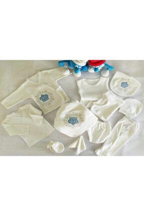 Bombinoo Erkek  Yeni Doğan Bebek 11'li Hastane Çıkış Zıbın Takımı