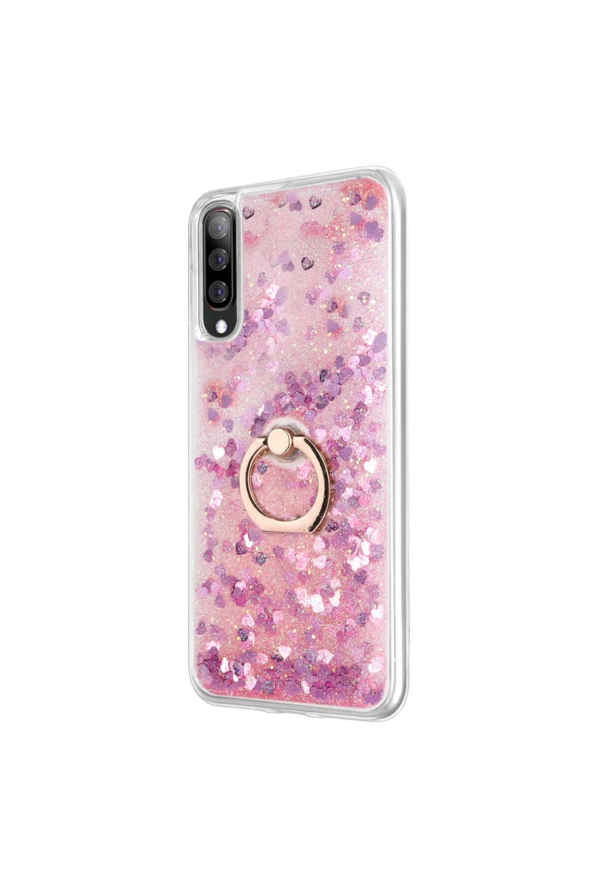 Microsonic Samsung Galaxy A50 Kılıf Glitter Liquid Holder Pembe 2