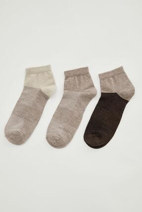 DeFacto Desenli Soket Çorap 3'lü