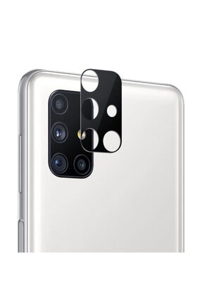 Microsonic Samsung Galaxy M51 Uyumlu  Kamera Lens Koruma Camı V2 Siyah