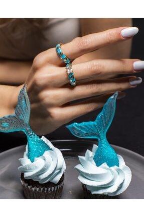Merias Design Kadın Tasarım Mavi Ikili Kombin Yüzük