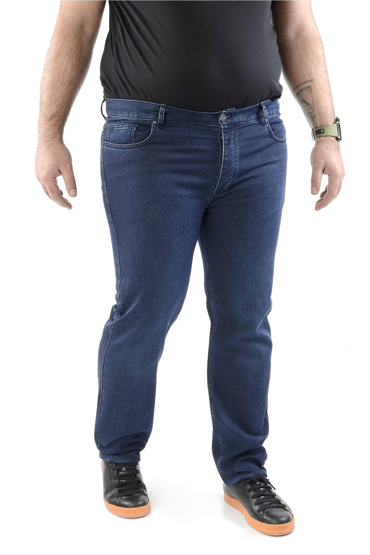 CEDY DENIM Mavi Erkek Kot Pantolon Battal Beden Slim Fit Jean - C4000 1