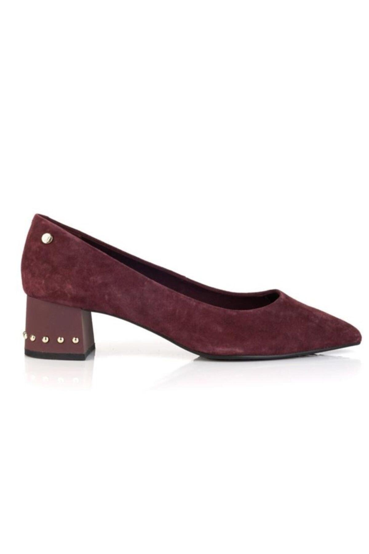 Tommy Hilfiger Kadın Bordo Topuklu Ayakkabı Fw0fw03609296 1