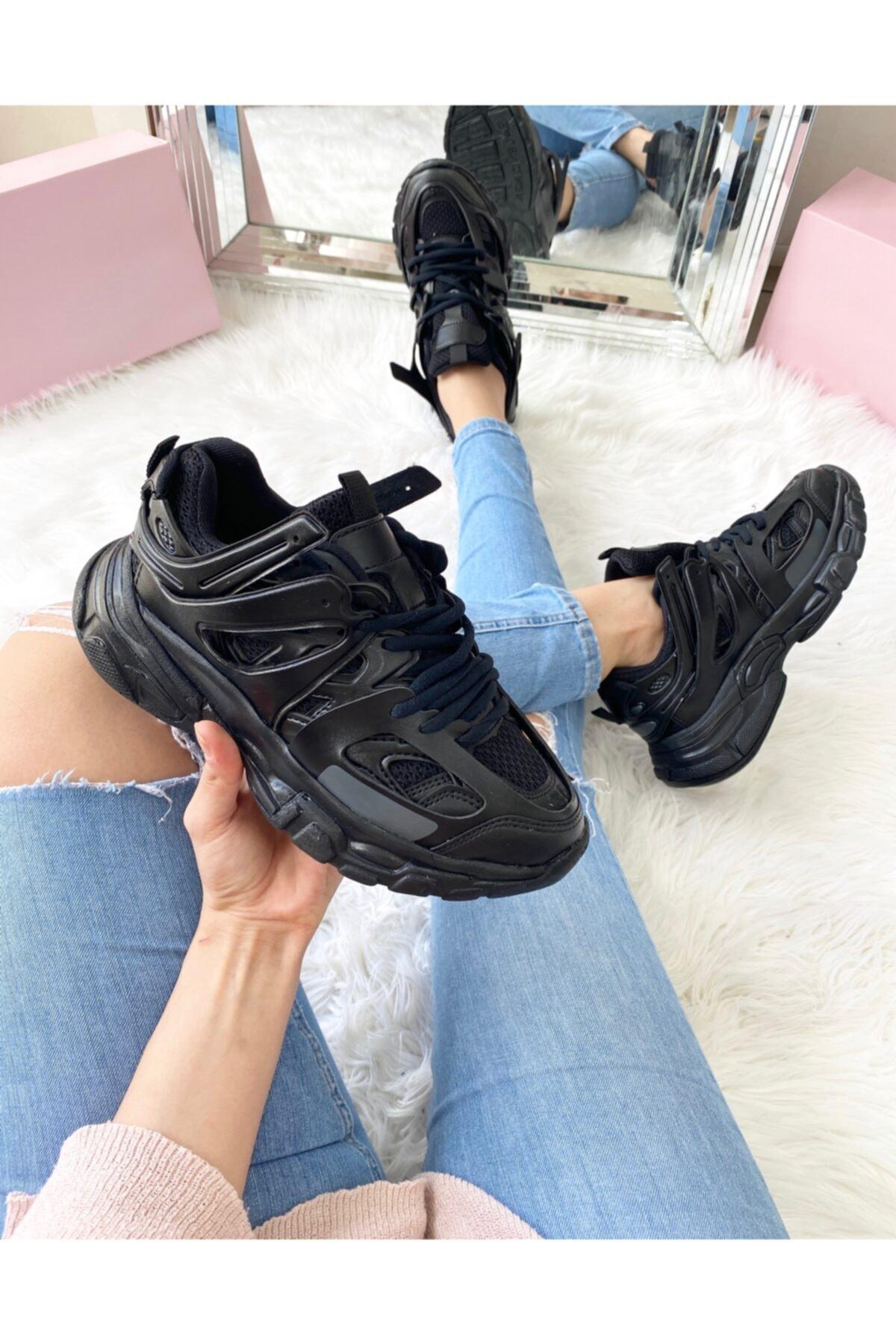ELSESHOES Unısex Sıyah Sneaker 1