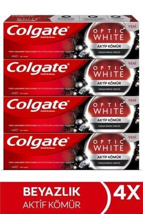 Colgate Optic White Aktif Kömür Yumuşak Mineral Temizliği Beyazlatıcı Diş Macunu 4 X 50 Ml