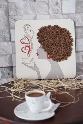 GÖRSEL ÇÖZÜM Kahve Kokulu Kız Tablosu