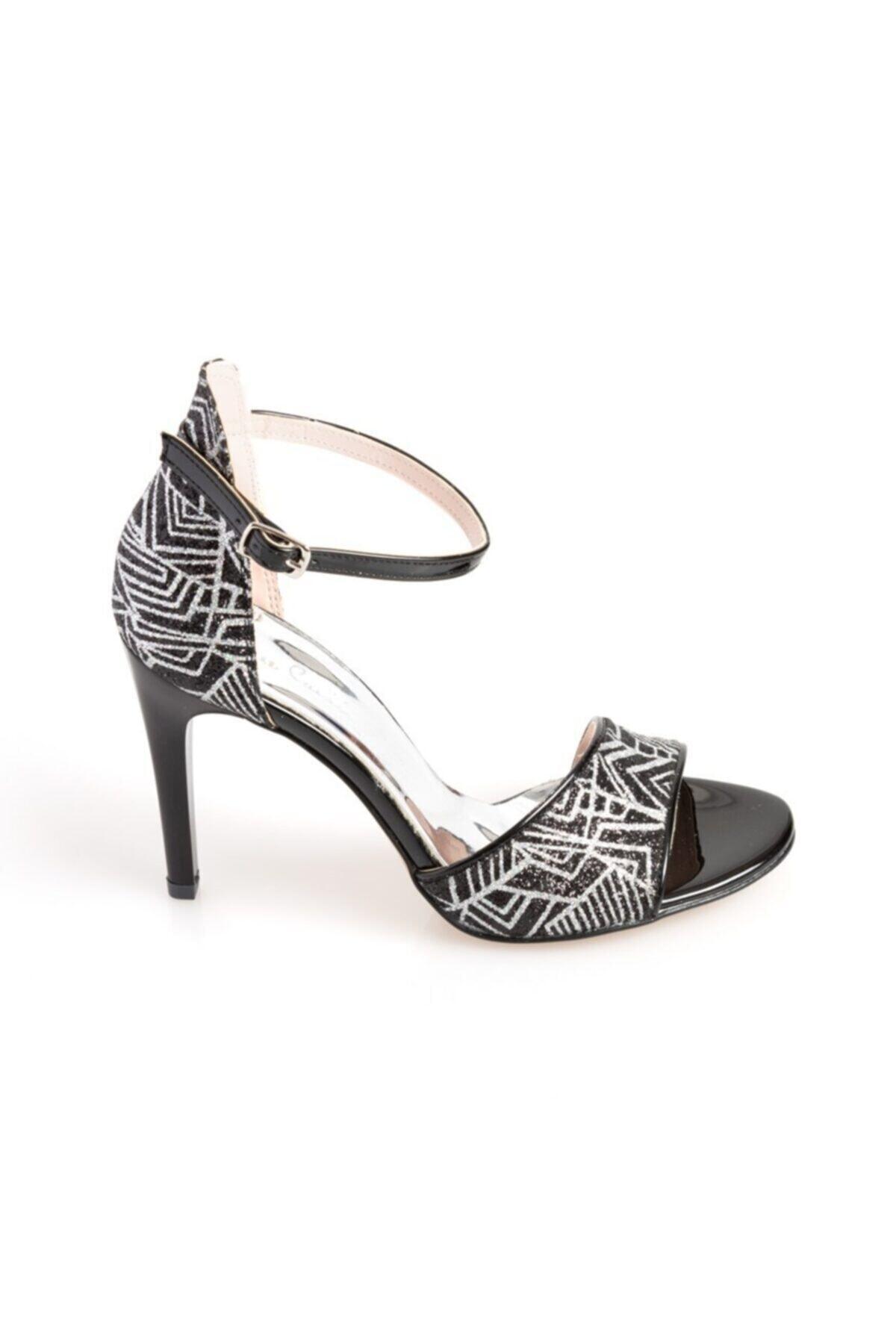 Pierre Cardin Kadın Siyah Topuklu Ayakkabı 54031 1