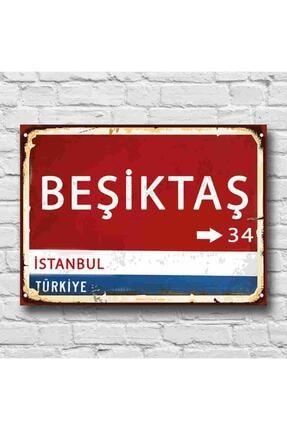 RETRO TABLO Beşiktaş Yön Tabelası