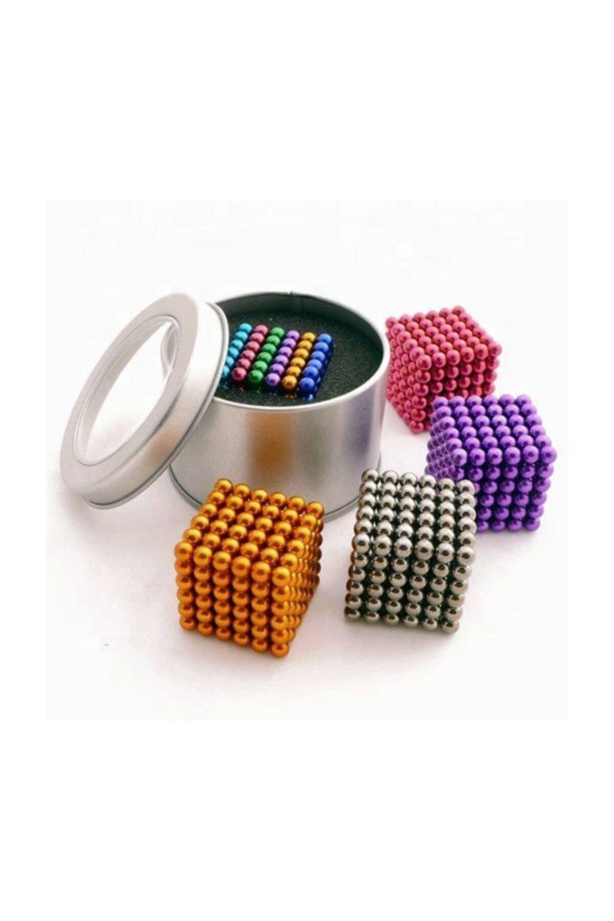 HEPBİMODA 6 Renkli 5mm 216 Adet Neocube Neodyum Mıknatıs Küp Sihirli Manyetik Toplar Mıknatıslı Misket 1