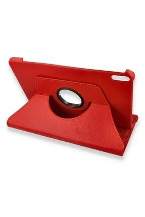 Zipax Huawei Matepad Pro Kılıf Dönebilen Standlı 360 Kılıf - Kırmızı