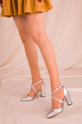 SOHO Gri Kadın Klasik Topuklu Ayakkabı 14391