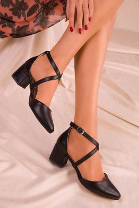 SOHO Siyah Mat Kadın Klasik Topuklu Ayakkabı 14392