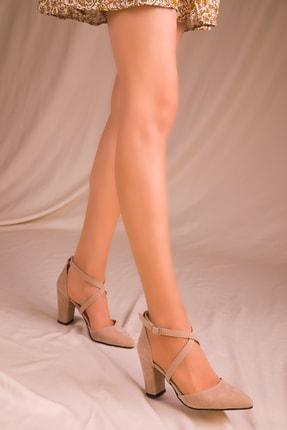 SOHO Vizon Süet Kadın Klasik Topuklu Ayakkabı 14391