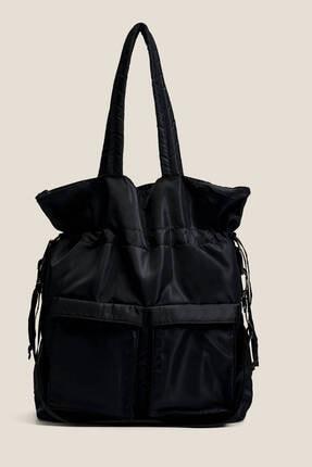 Oysho Kadın Siyah Büzgülü Çanta