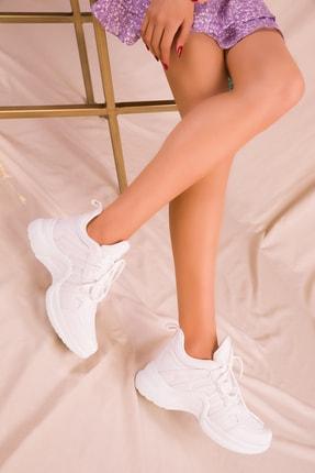 SOHO Beyaz Kadın Sneaker 15791