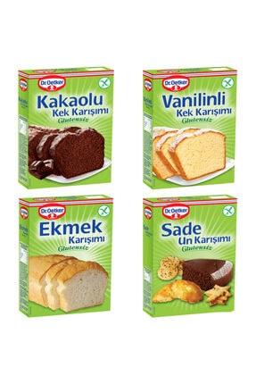 Dr. Oetker Glutensiz Kakaolu Kek,vanilinli Kek,ekmek,sade Un Karışımı Paketi