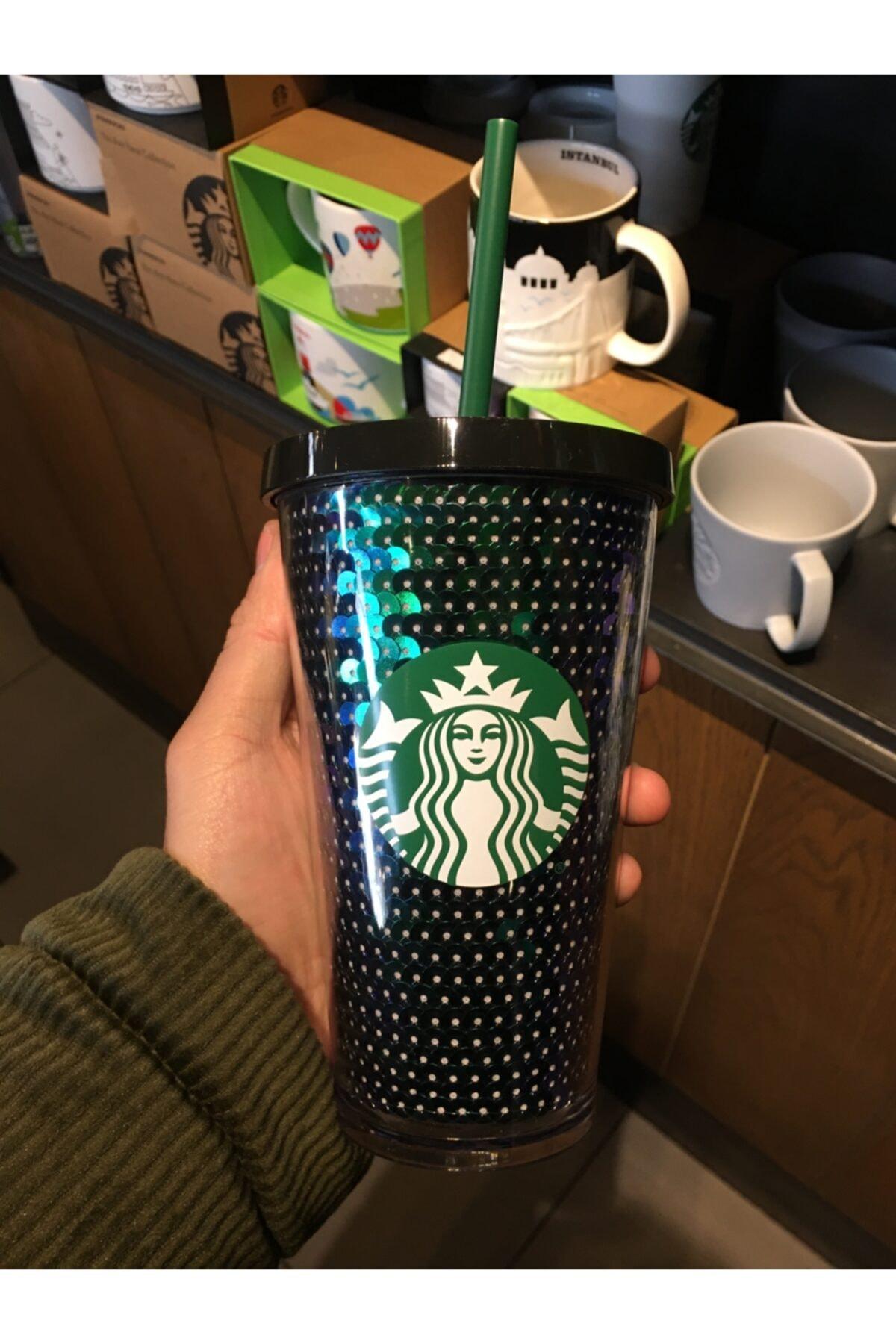 Starbucks Siyah Pullu Soğuk Içecek Bardağı 473 ml 2