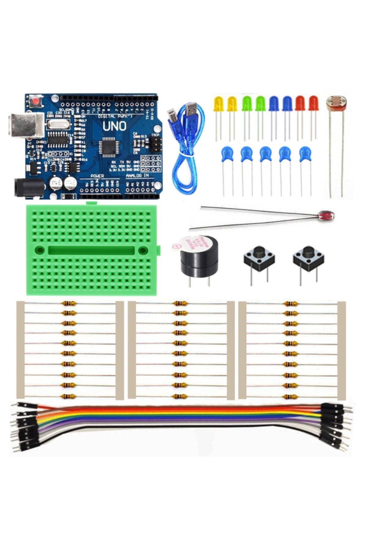 Arduino Uno Mini Başlangıç Seti - Yeni Başlayanlara Özel 61 Parça 1