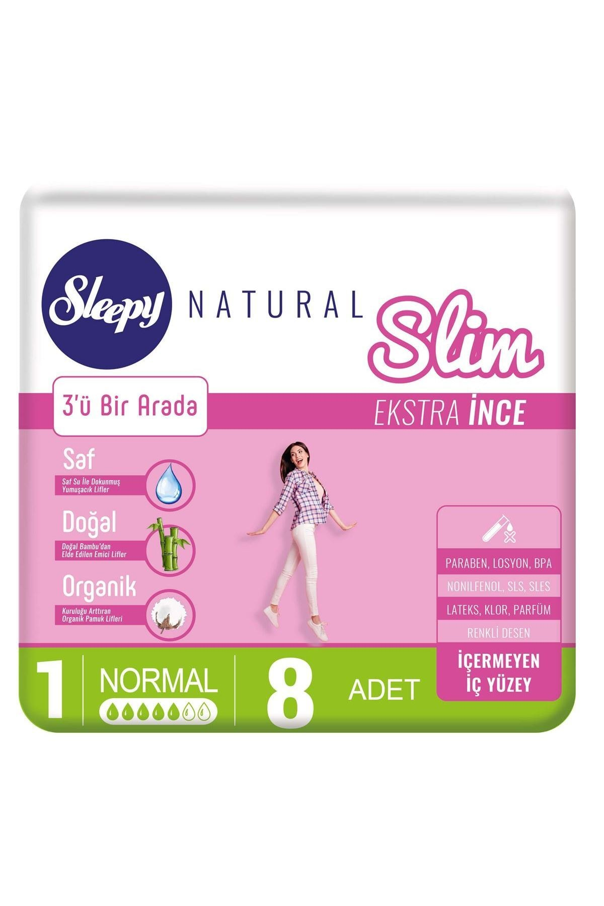 Sleepy Natural Slim Ekstra İnce Normal 8 Ped