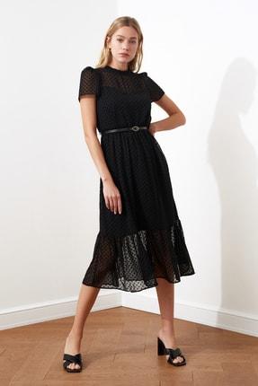 TRENDYOLMİLLA Siyah Kemerli Elbise TWOSS20EL0983