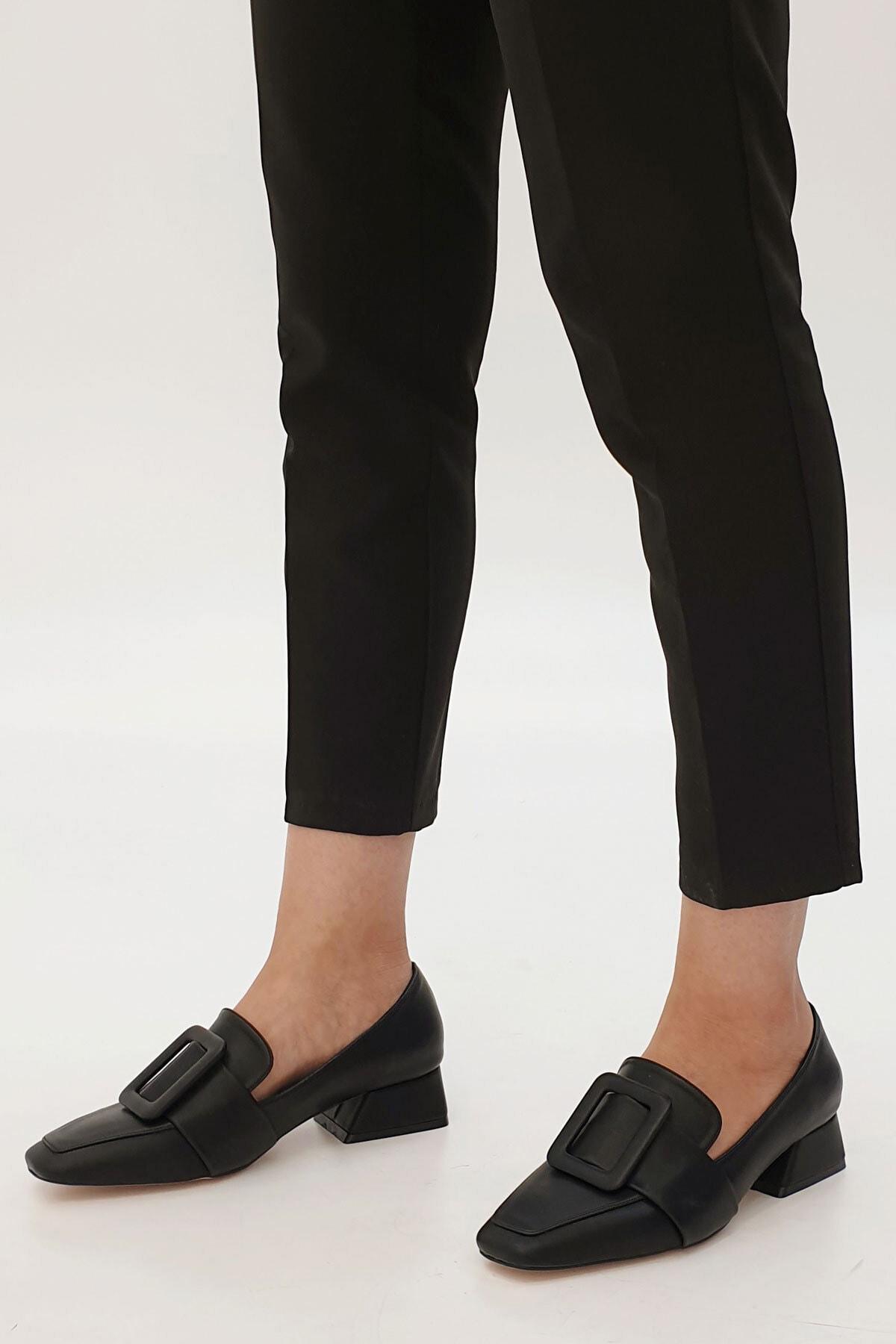 Marjin Jiyona Kadın Klasik Topuklu Ayakkabısiyah 1