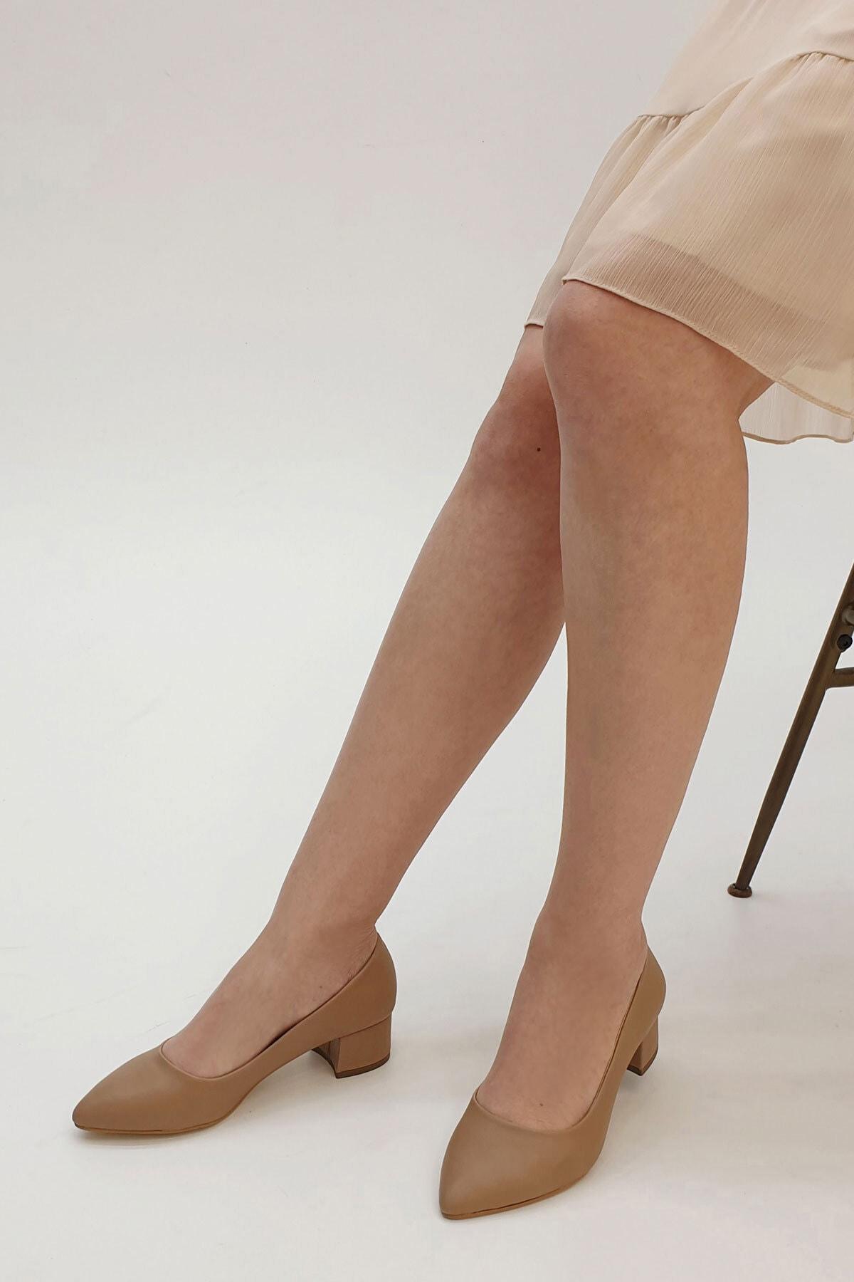 Marjin Kadın Apunte Klasik Topuklu AyakkabıVizon 2