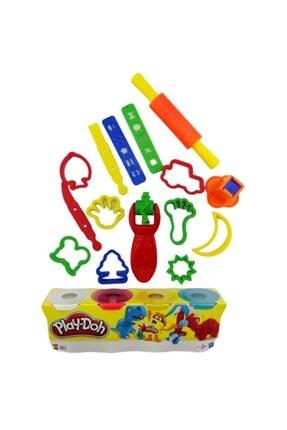 Play Doh Plah Doh Oyun Hamuru + 17 Parça Şekilli Set