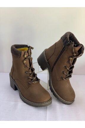 Dockers Kadın Kahverengi Hakiki Nubuk Deri Topuklu Bot 225450