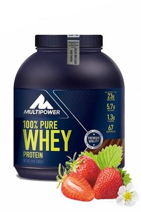 Multipower Whey Protein Çilek Aroma 2000 Gr Protein Tozu Bcaa Glutamin Arjinin Enerji Güç Vitamin