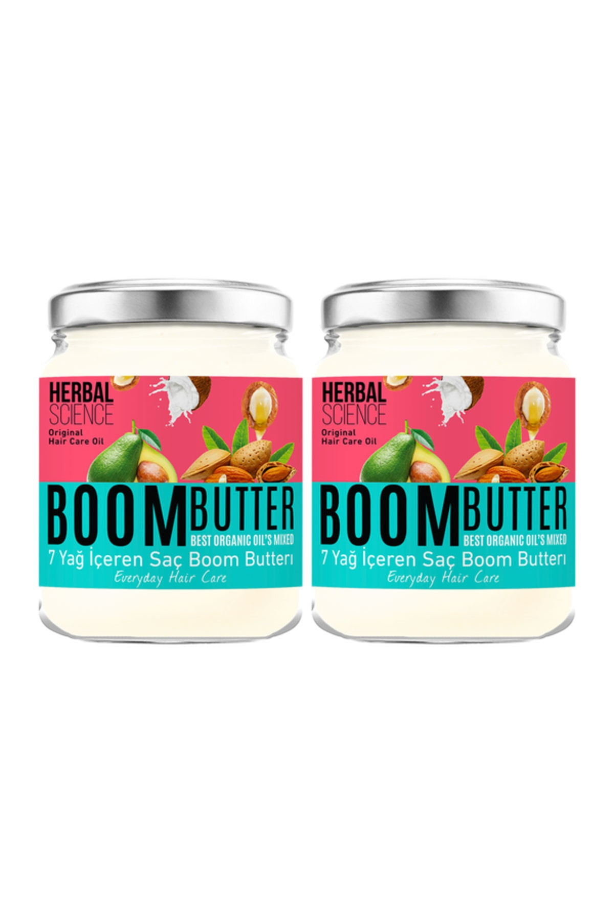 Herbal Science Boom Butter Saç Bakım Yağı İkili Paket 8682427005459