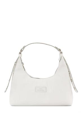 Housebags Kadın Beyaz Baguette Çanta 205