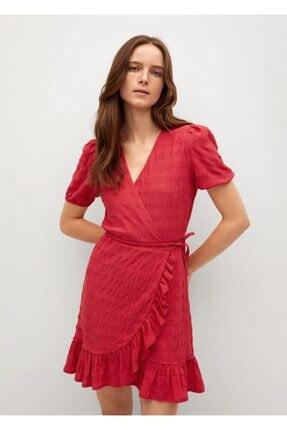 MANGO Woman Kadın Kırmızı Elbise