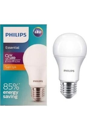 Philips Essential Led Ampul 9w- 60w Beyaz Renk E27