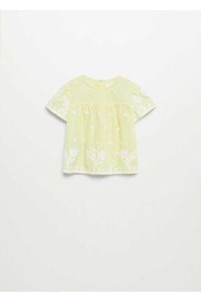MANGO Baby Kız Bebek Sarı Bluz